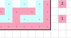 Patroondeel voor toer 1a (voorkant)
