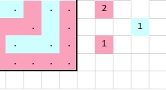 Patroondeel voor toer 1b (voorkant)