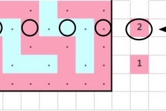 Pattern chart for row 2a with markings