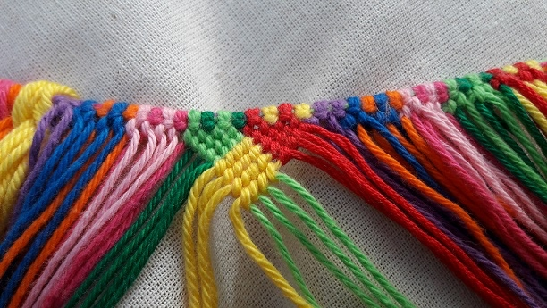 Knotted bag, block 3