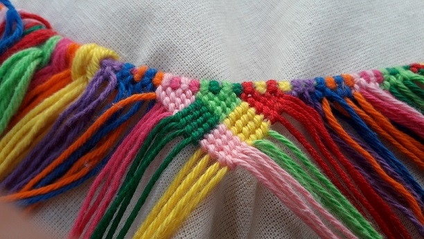 Knotted bag, block 6