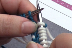 04 Row 2a 05 next 7 stitches knitted