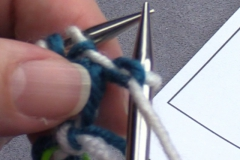 05 Row 2b 01 slip first stitch with yarn at wrong side