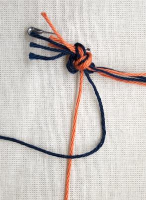 (Dubbele) linkse knoop - stap 1