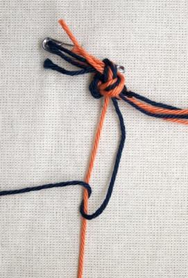 (Dubbele) linkse knoop - stap 2
