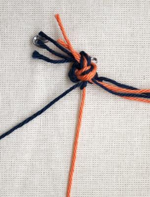 (Dubbele) linkse knoop - stap 3