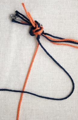(Dubbele) linkse knoop - stap 4