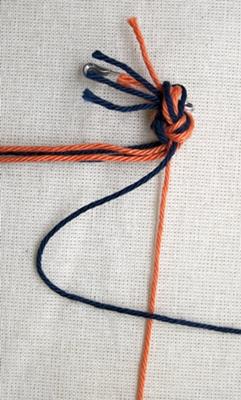 (Dubbele) rechtse knoop - stap 1