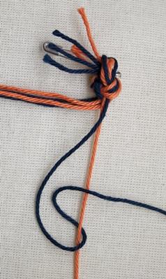 (Dubbele) rechtse knoop - stap 2