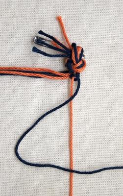 (Dubbele) rechtse knoop - stap 4