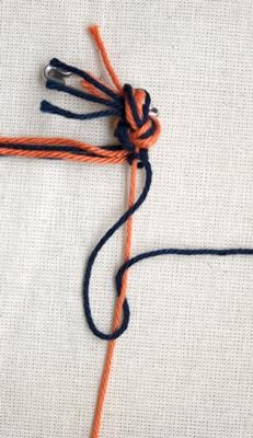 (Dubbele) rechtse knoop - stap 5