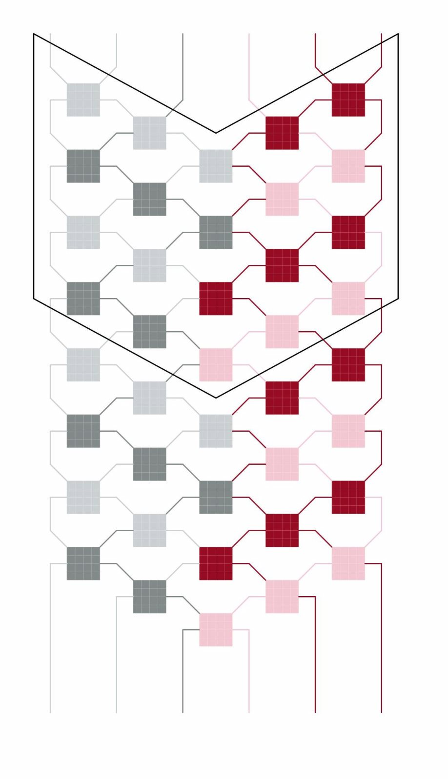 Interlocking V-shape pattern B variation