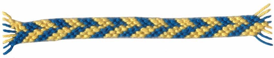 Strepen in 2 kleuren patroon