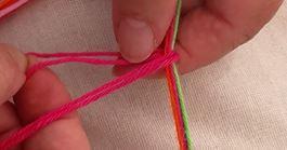 screenshot 1 vlog:  draden gevouwen onder bovendraden heen