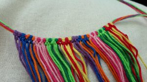First row knotted, second colorpart