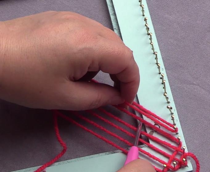 Haaknaald Met Licht : Schuin weven met een doorlopende draad u pagina u de handwerkjuf