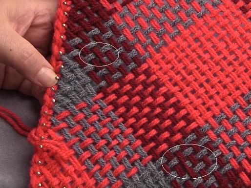 Weaving On The Bias On A Pin Loom Correcting Errors De Handwerkjuf