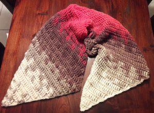 Achterkant van de sjaal
