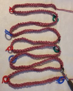 The chain with stitchmarkers