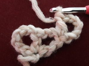 First double crochet is made