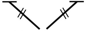 dubbel stokje (links en rechts)